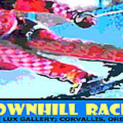 Downhill Racer Print by Michael Moore