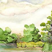 Downriver Napanee Art Print