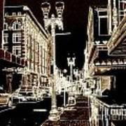 Downtown 2 By Angelia  Art Print
