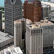 Downtown Aerial Of Detroit Michigan Art Print