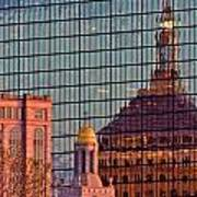 Downtown Boston Reflection Art Print