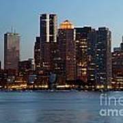 Downtown Boston Skyline Art Print