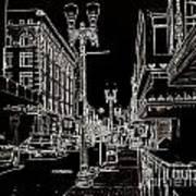Downtown By Angelia Art Print