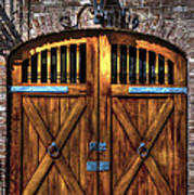 Downtown Charleston Sc Doors Art Print