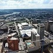Downtown Cincinnati Form The Top Of Karew Tower Art Print