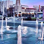 Downtown City Plaza Chico California Art Print