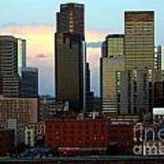 Downtown Denver At Dusk Art Print