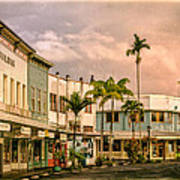Downtown Hilo Sunday Morning Art Print