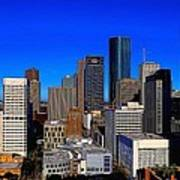 Downtown Houston Painted Art Print