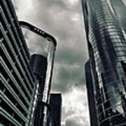 Downtown Houston Skyscrapers In Storm Art Print