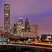 Downtown Houston Texas Skyline Beating Heart Of A Bustling City Art Print by Silvio Ligutti