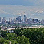 Downtown Kansas City From The Northland Art Print