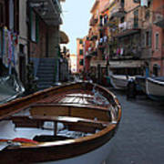 Downtown Manarola Art Print