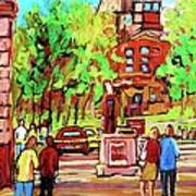 Downtown Montreal Mcgill University Streetscenes Art Print
