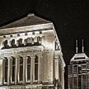 Downtown Monuments Art Print