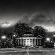 Downtown Murphy Nc In Black And White Art Print
