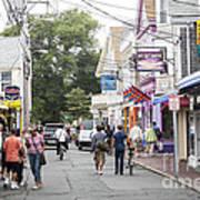 Downtown Scene In Provincetown On Cape Cod In Massachusetts Art Print