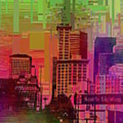 Downtown Seattle Cubed 1 Art Print