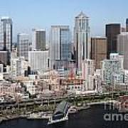 Downtown Seattle Washington City Skyline Art Print