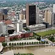 Downtown Skyline Of Toledo Ohio Art Print