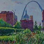 Downtown St. Louis Garden Art Print