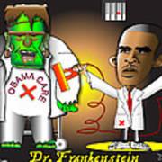 Dr. Frankenstein Shocks Monster Art Print