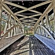 Dr. Knisely Covered Bridge Art Print