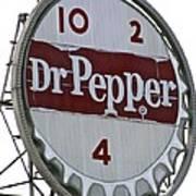 Dr. Pepper Illuminated Landmark Sign Art Print