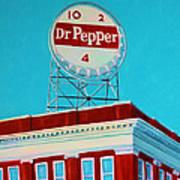 Dr Pepper Sign Roanoke Virginia Art Print