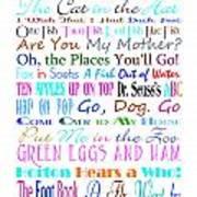 Dr Seuss Books 3 Art Print