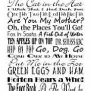Dr Seuss Books 4 Art Print