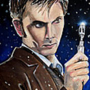 Dr Who #10 - David Tennant Art Print