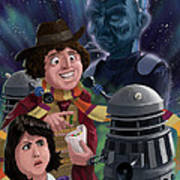 Dr Who 4th Doctor Jelly Baby Art Print