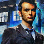 Dr Who Number 10  Art Print