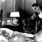 Dracula Bela Lugosi Fantasy Nude Art Print