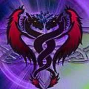 Dragon Duel Series 19 Art Print