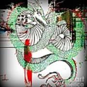 Dragon Inverted Art Print
