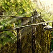 Dragon Land Art Print