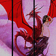 Dragon Power-featured In Comfortable Art Group Art Print