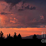 Dragonfire Sunset - Mt. Spokane Wa Art Print