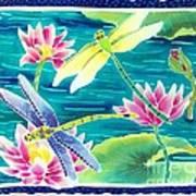 On The Breeze Of Dragonflies Art Print