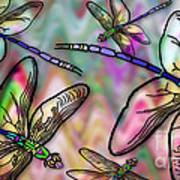 Dragonfly Land Art Print