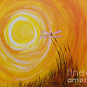 Dragonfly Sun Art Print