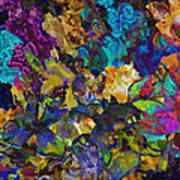 Dramatic Blooms 01 Art Print