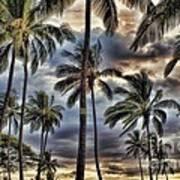 Dramatic Maui Sunset Art Print