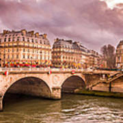 Dramatic Parisian Sky Art Print