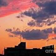 Dramatic Sky Dwarfs Halifax Skyline Art Print