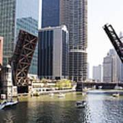 Draw Bridges Of Chicago Art Print