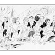Drawing Of The London Society Dancing Night Away Art Print