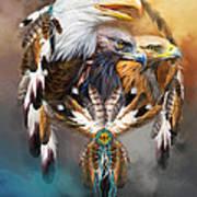 Dream Catcher - Three Eagles Art Print